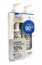 KIT SILVER CARE LOCAO UREIA 10% 200ML 2UN